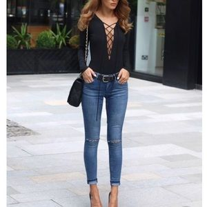 Other - Lace up bodysuit